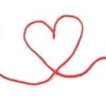 ハート型の赤い糸