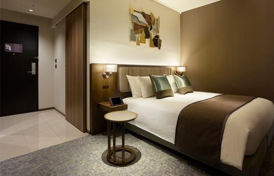 ホテル ザ セレスティン銀座のベッドルーム